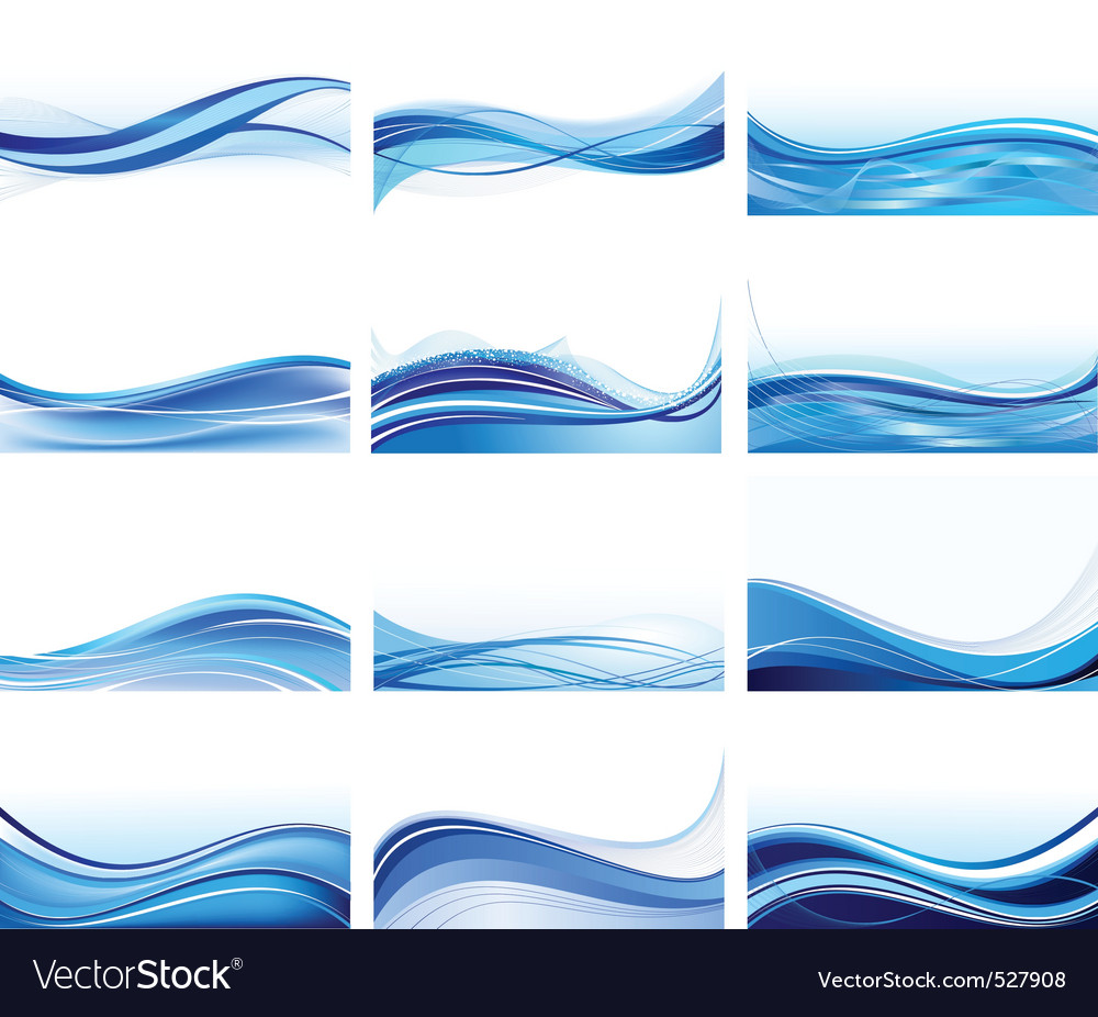 Abstract wave set vector | Price: 1 Credit (USD $1)