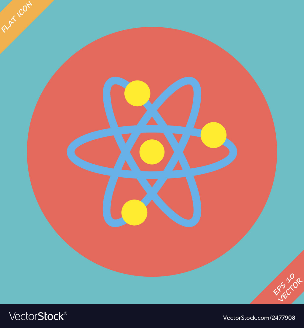 Atomic symbol icon - vector | Price: 1 Credit (USD $1)
