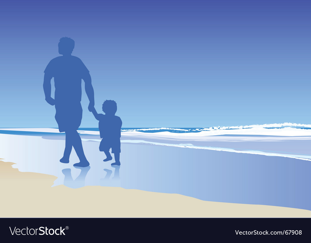 Dad and child vector | Price: 1 Credit (USD $1)