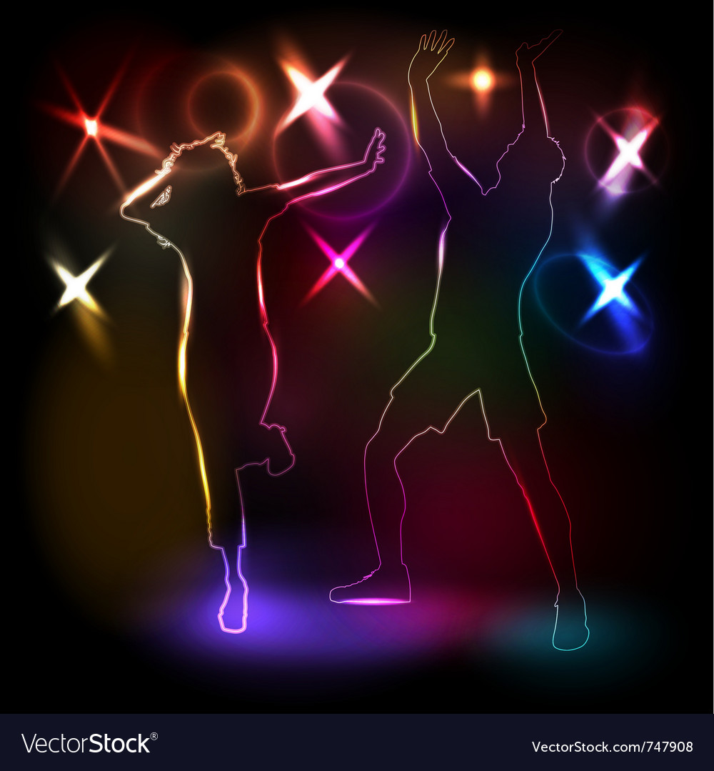 Glowing outlines of people vector | Price: 1 Credit (USD $1)