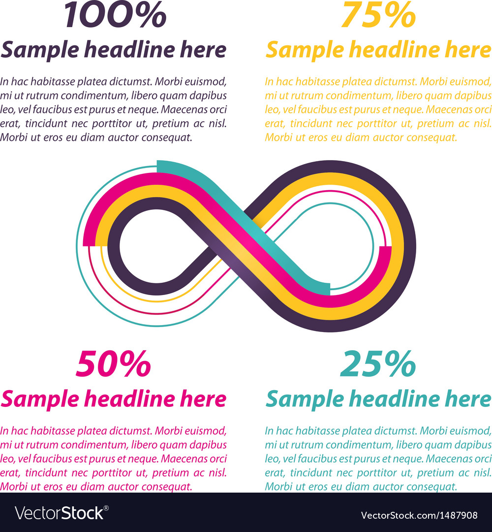 Infinity shape for infographics vector | Price: 1 Credit (USD $1)
