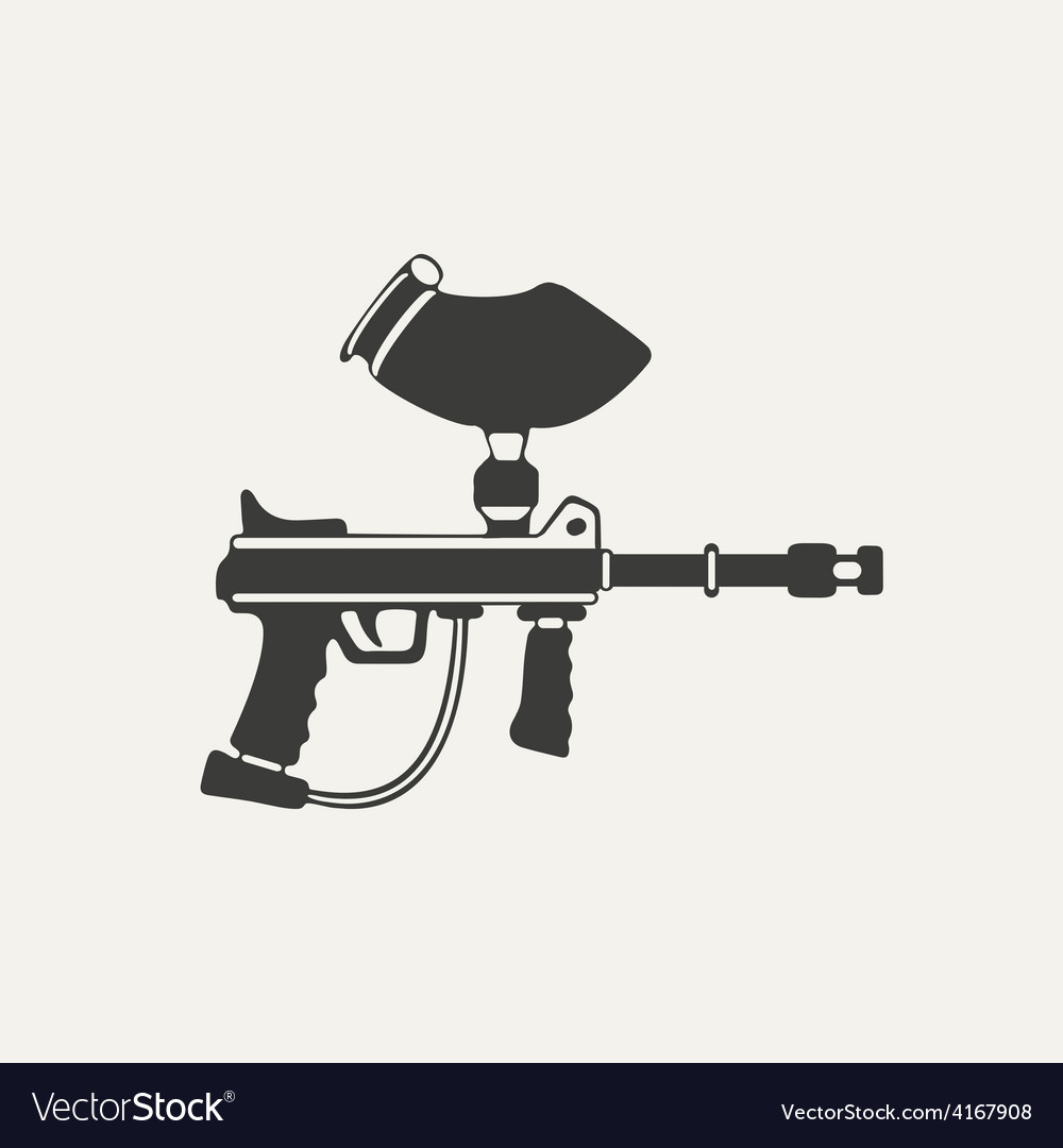 Paintball gun black and white vector | Price: 1 Credit (USD $1)