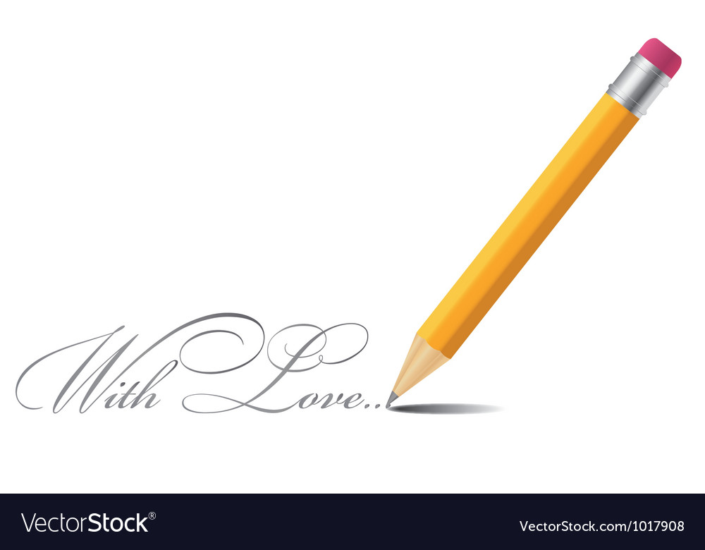 Pencil background with love vector | Price: 1 Credit (USD $1)