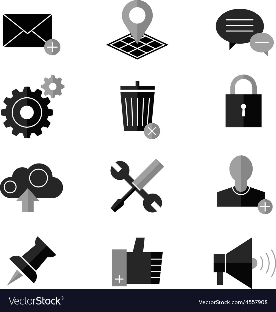 Seo and internet icon set web website vector | Price: 1 Credit (USD $1)