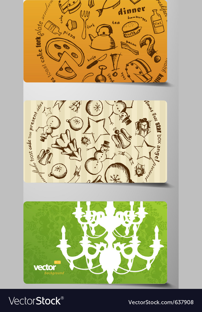 Set of gift cards vector | Price: 1 Credit (USD $1)