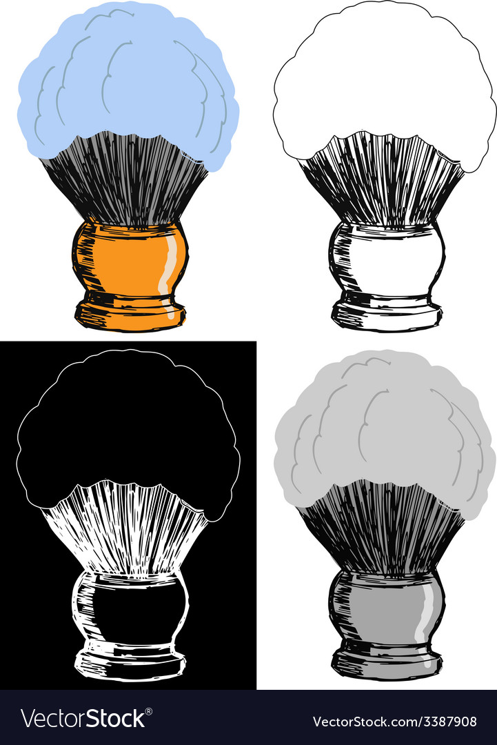 Shaving brush vector | Price: 1 Credit (USD $1)