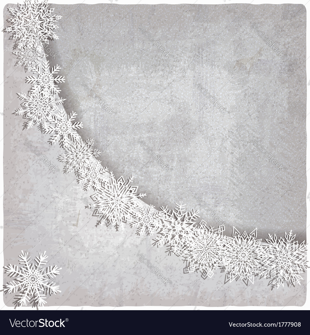 Vintage background with snowflakes vector | Price: 1 Credit (USD $1)