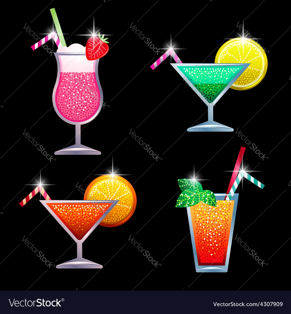 Coctails vector | Price: 1 Credit (USD $1)