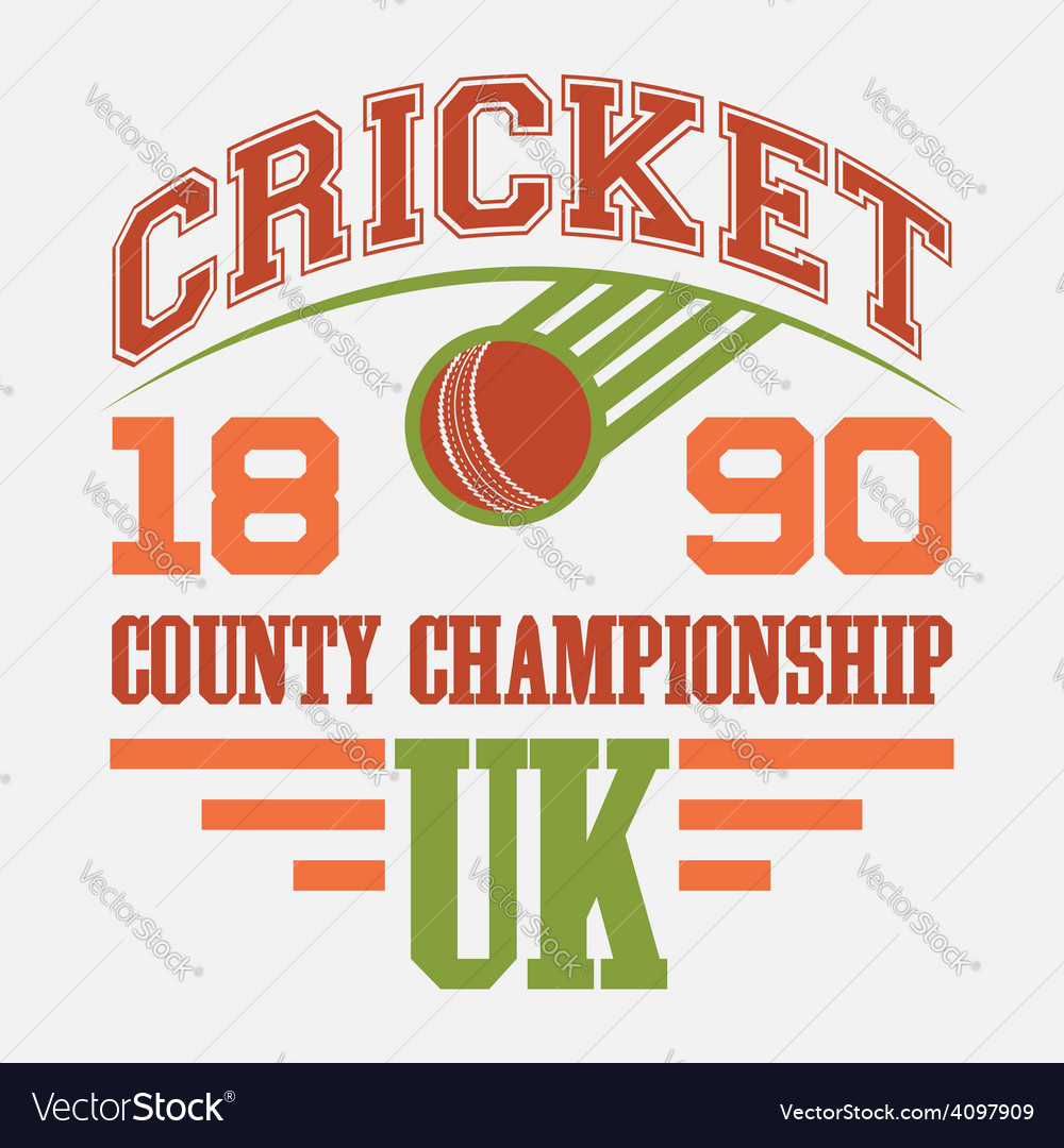 Cricket county championship t-shirt vector | Price: 1 Credit (USD $1)