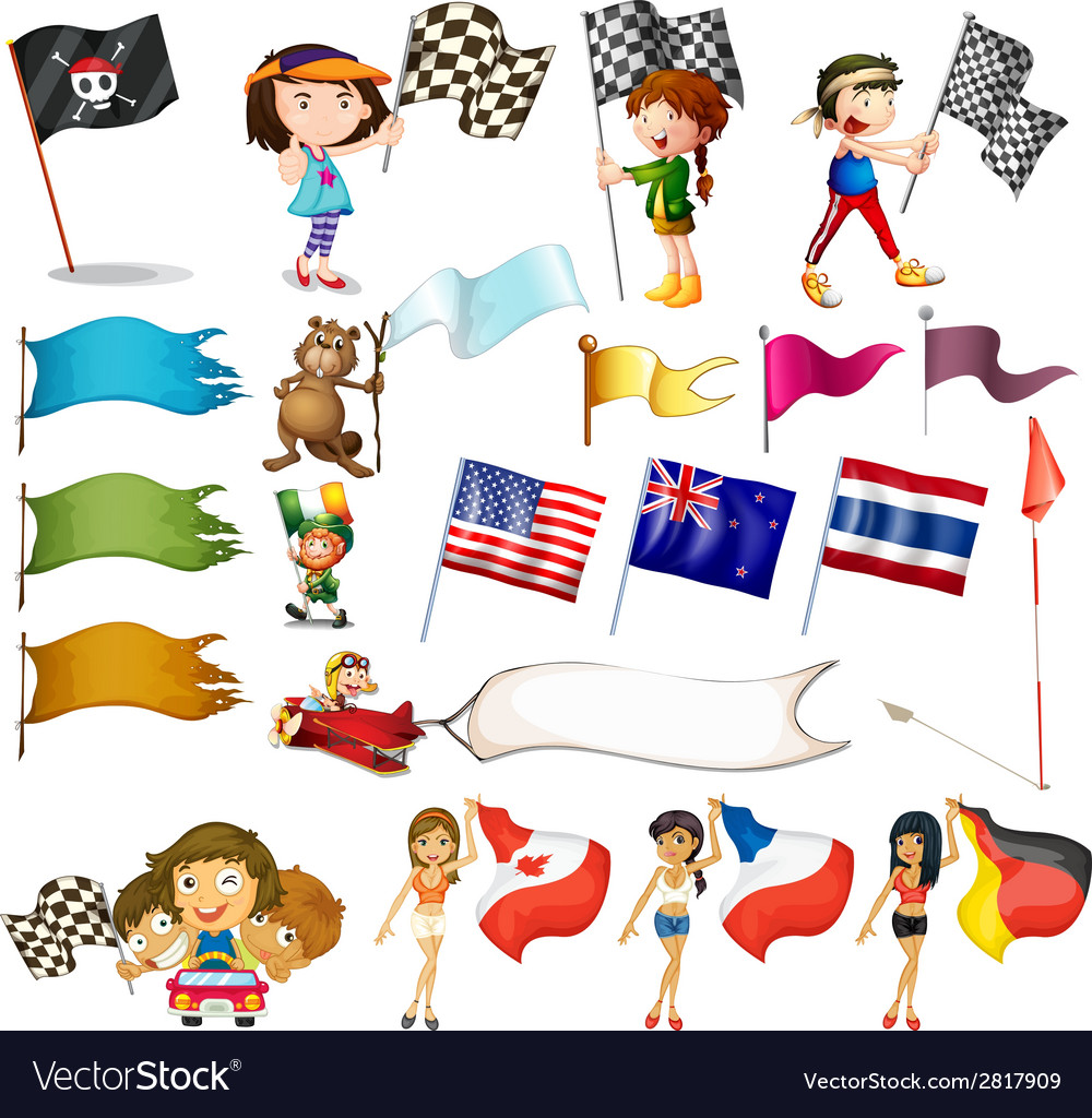 Flag set vector | Price: 3 Credit (USD $3)