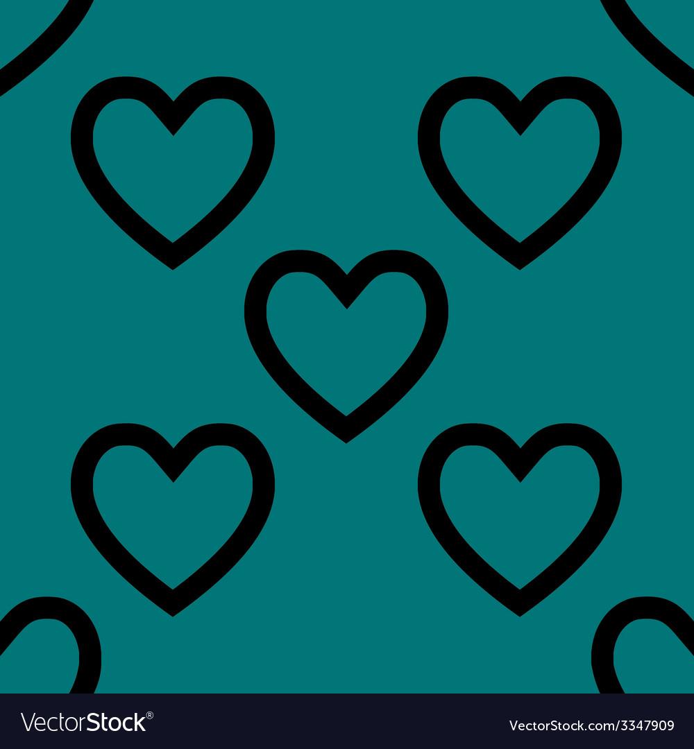 Heart web icon flat design seamless pattern vector   Price: 1 Credit (USD $1)