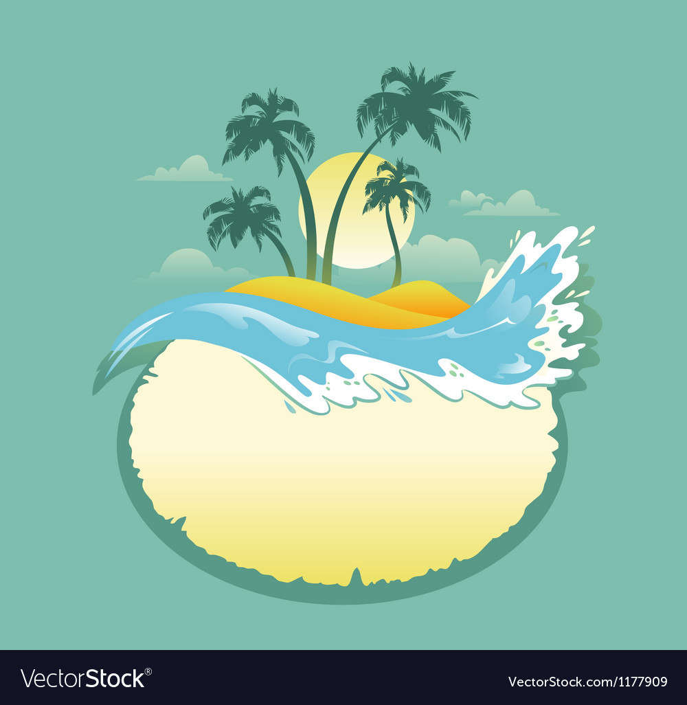 Landscape of tropical banner vector | Price: 1 Credit (USD $1)