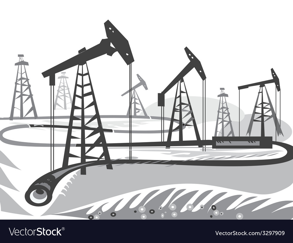 Oil bw vector | Price: 1 Credit (USD $1)