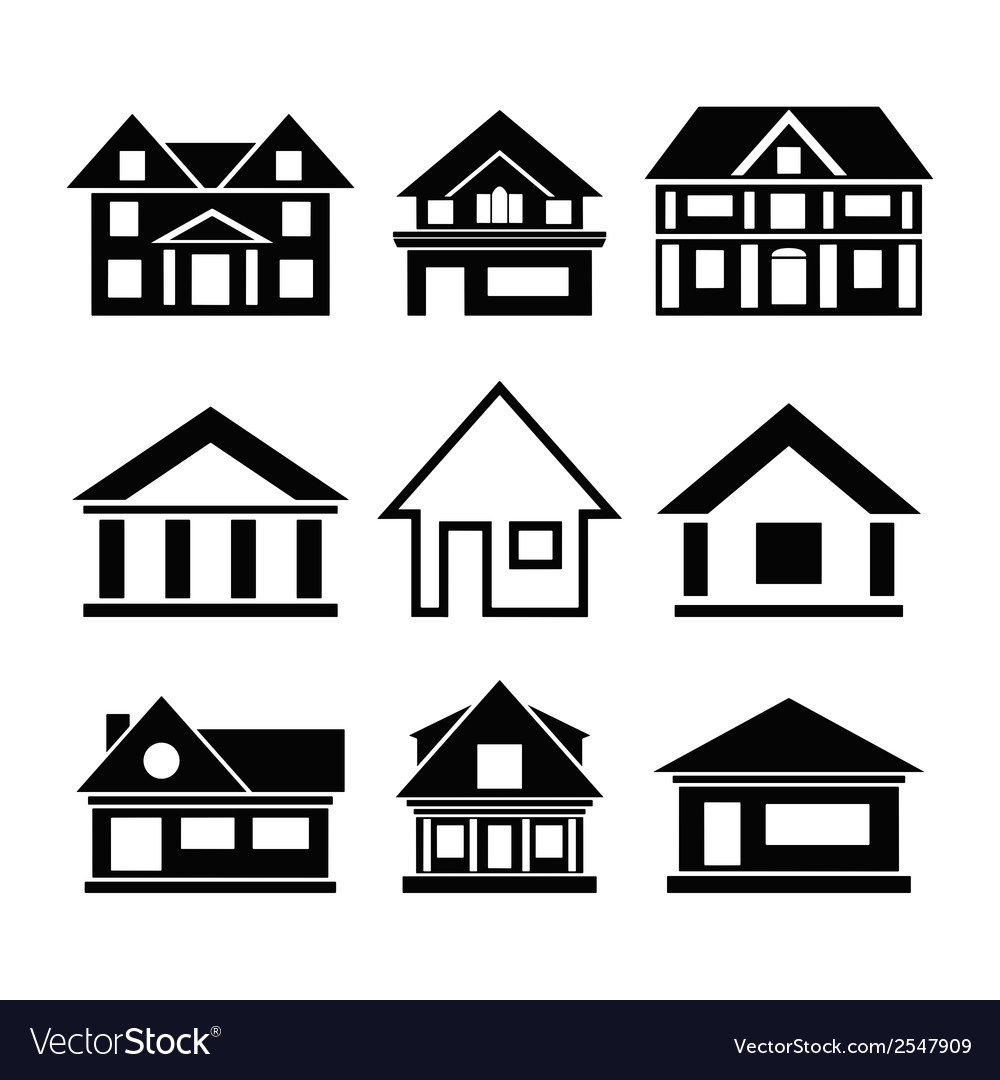 Set of house icons vector | Price: 1 Credit (USD $1)