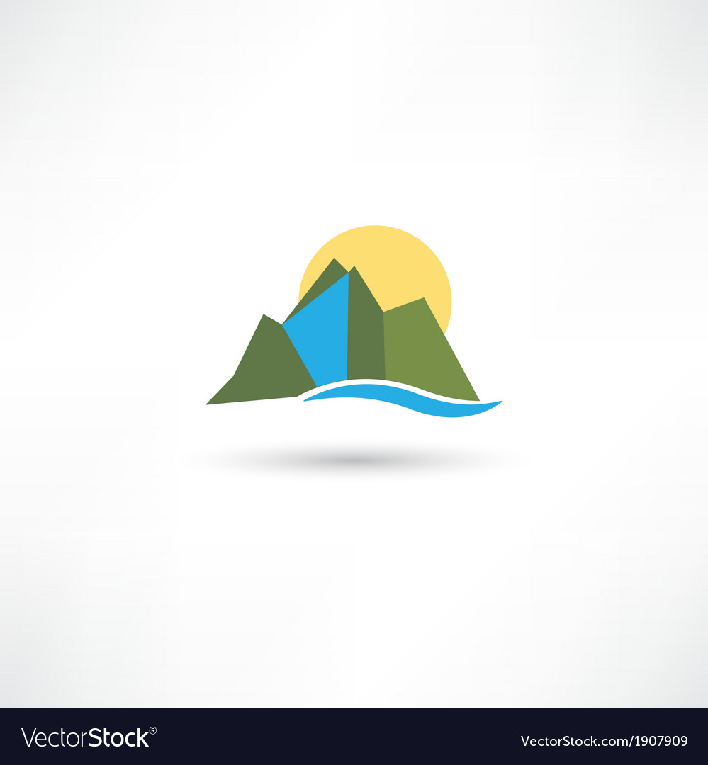 Simple mountains symbol vector | Price: 1 Credit (USD $1)
