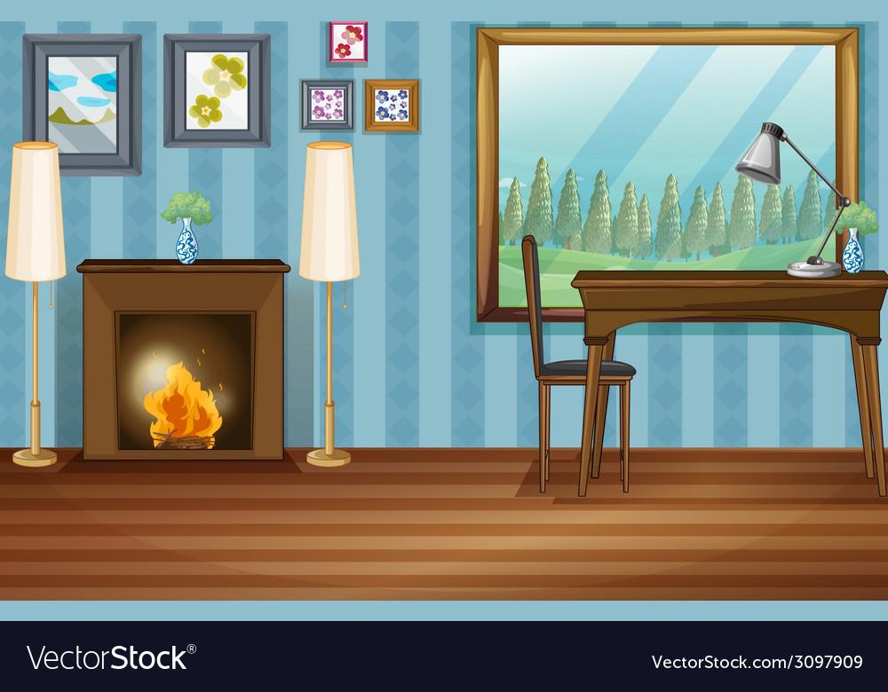 Study room vector | Price: 1 Credit (USD $1)