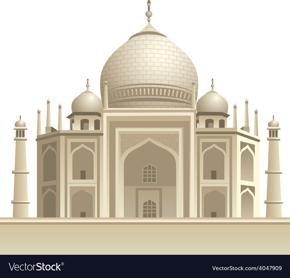 Taj mahal vector | Price: 5 Credit (USD $5)