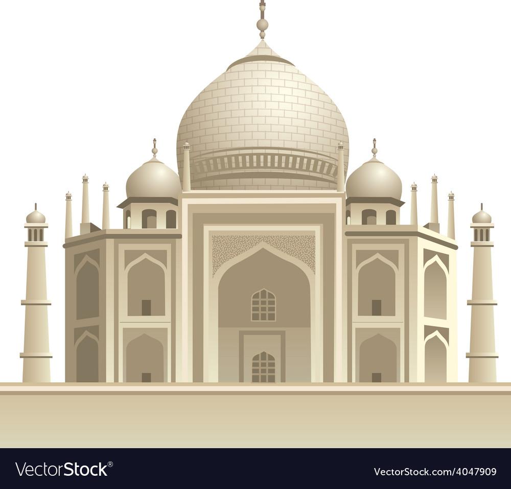 Taj mahal vector | Price: 5 Credit (USD $5)