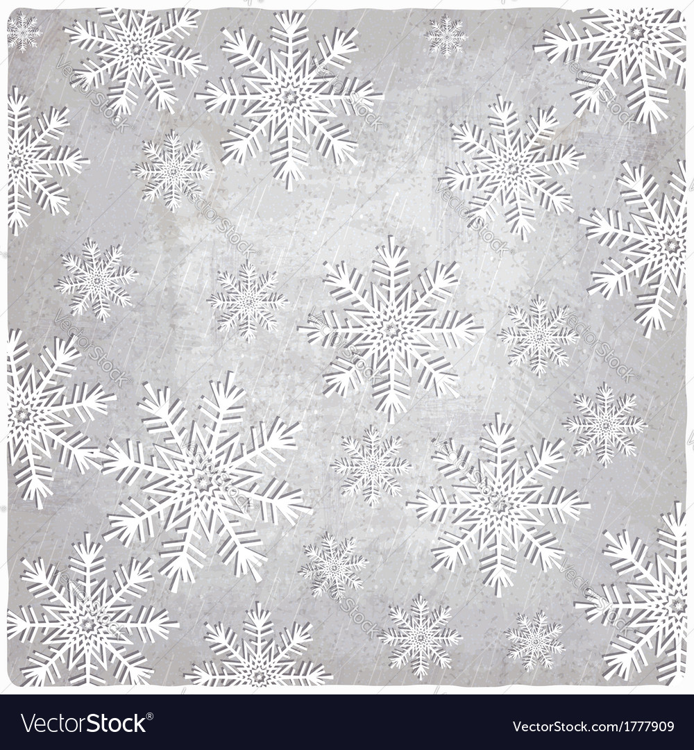 Vintage background with cutout paper snowflakes vector | Price: 1 Credit (USD $1)