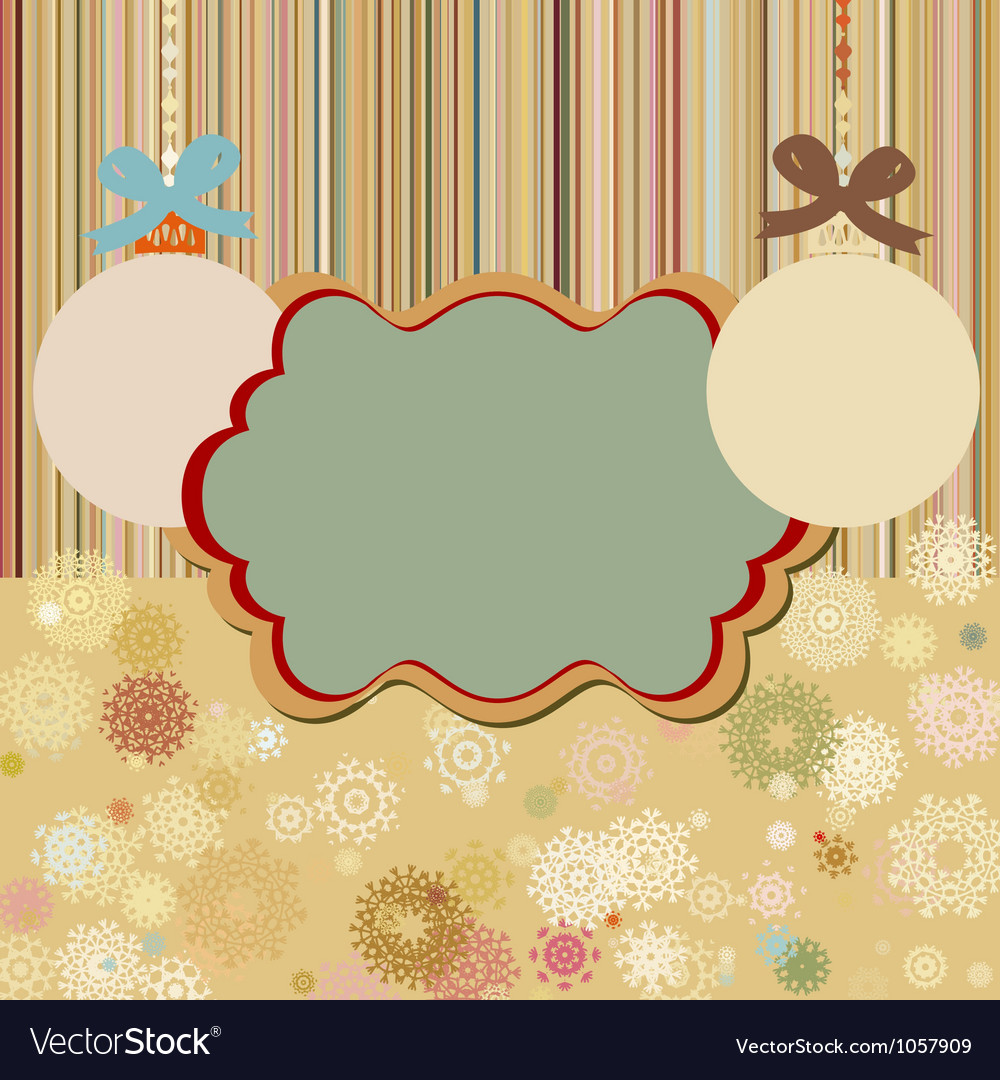 Vintage christmas frame vector | Price: 1 Credit (USD $1)