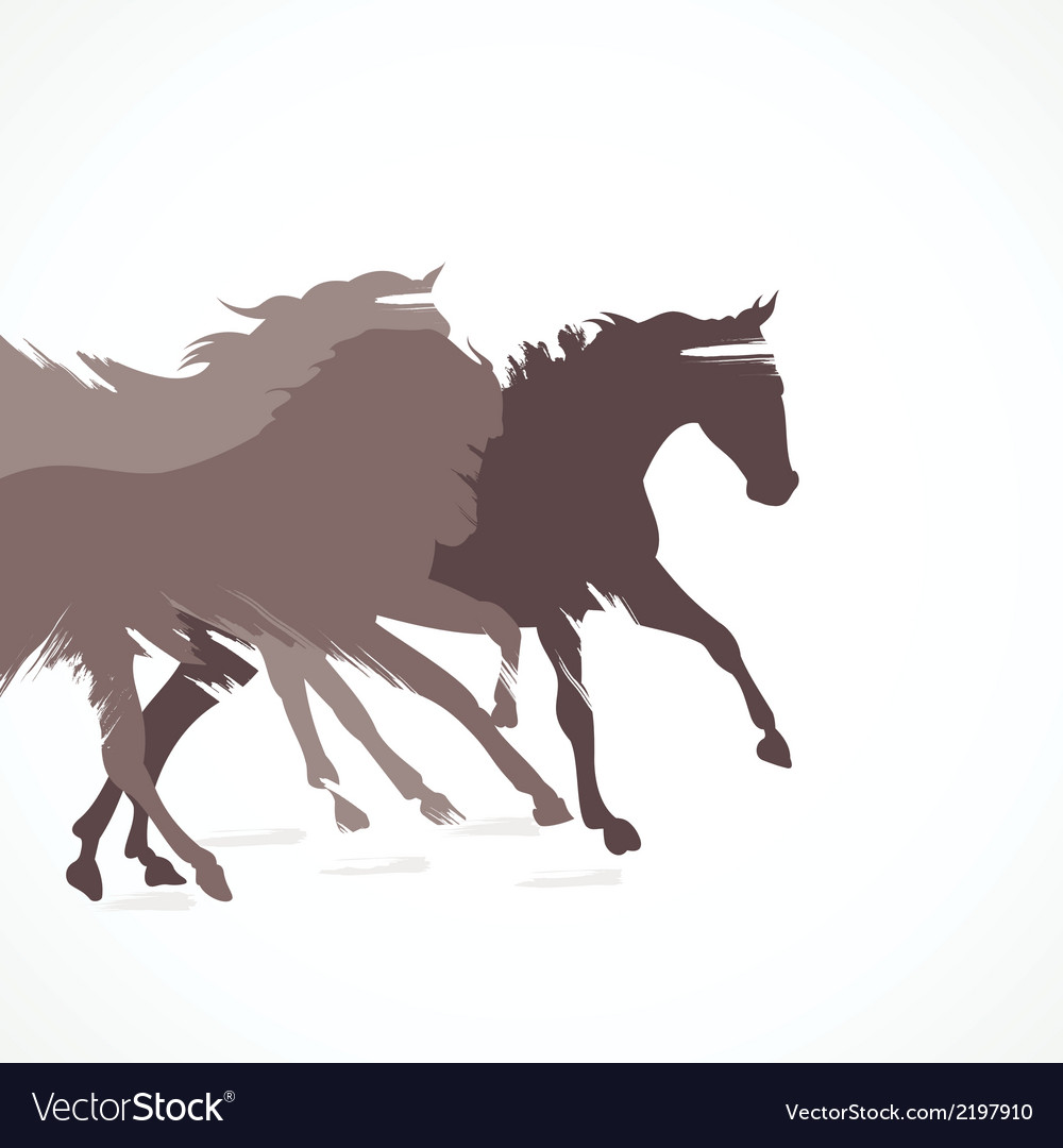 Abstract running horse background vector | Price: 1 Credit (USD $1)