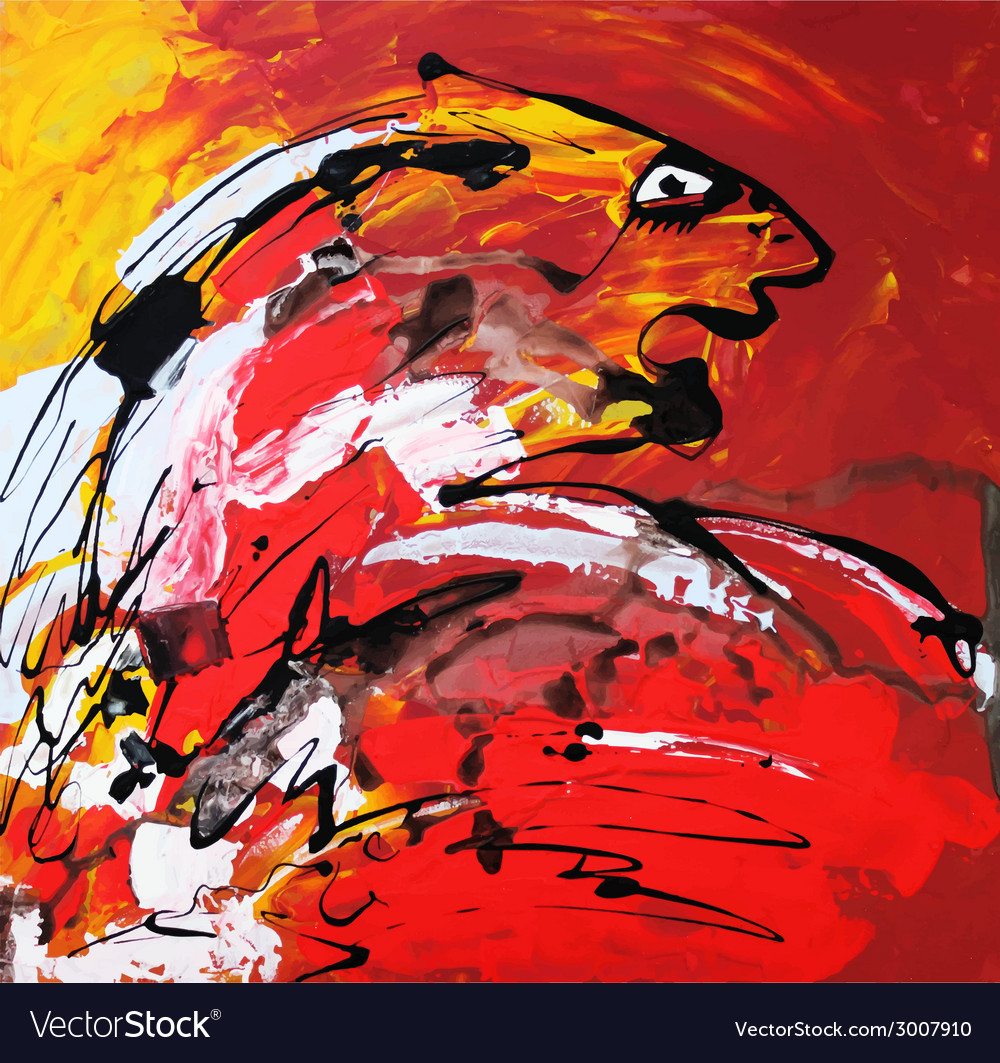 Art composition of abstract tiger vector   Price: 1 Credit (USD $1)