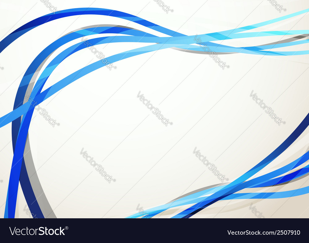 Blue modern swoosh abstract background vector | Price: 1 Credit (USD $1)
