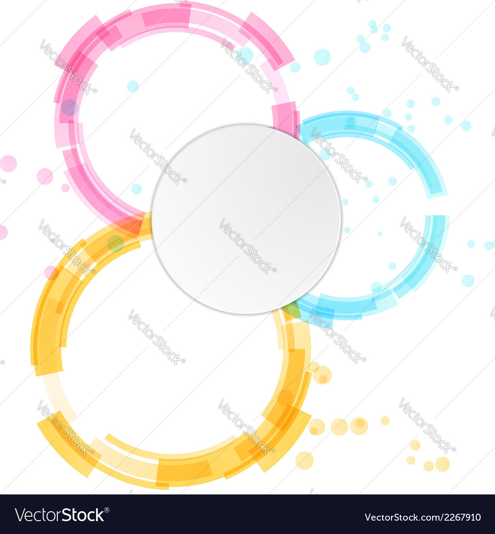 Bright modern circle design elements background vector | Price: 1 Credit (USD $1)