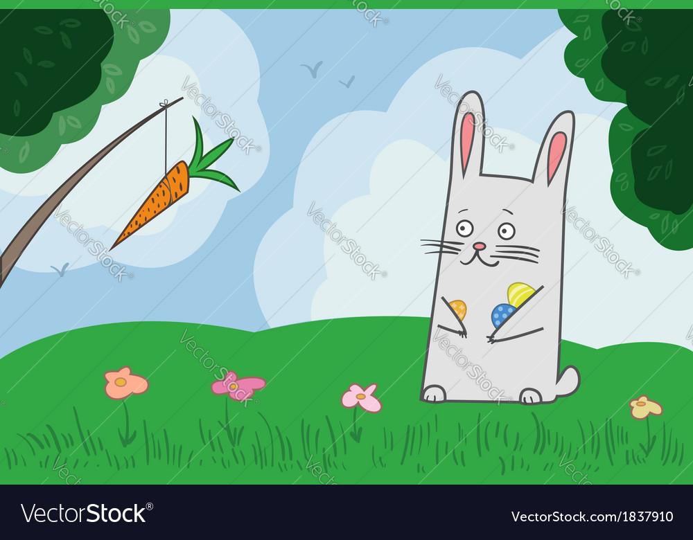 Bunny hunting vector | Price: 1 Credit (USD $1)