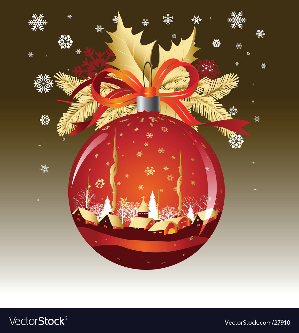 Christmas ball in red colors vector | Price: 3 Credit (USD $3)