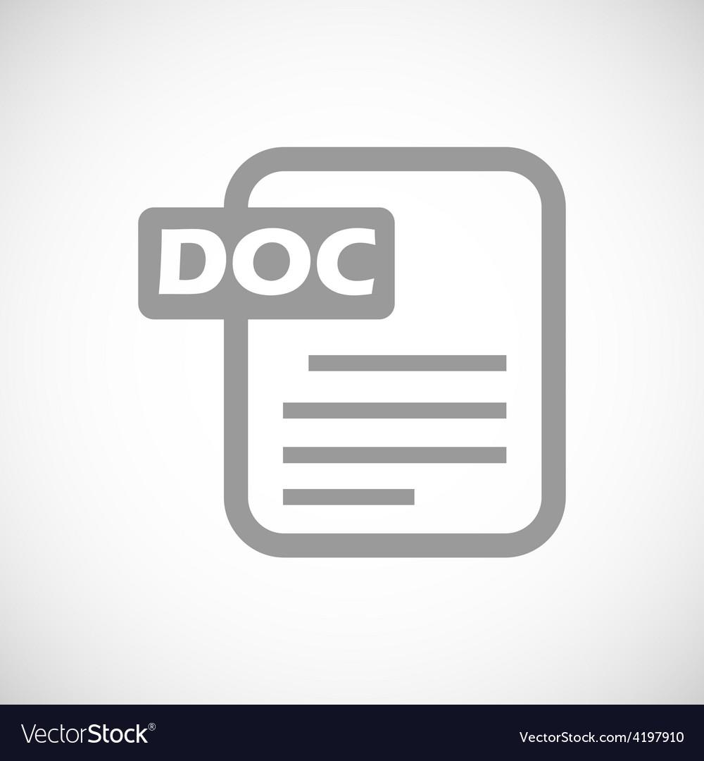 Doc black icon vector | Price: 1 Credit (USD $1)