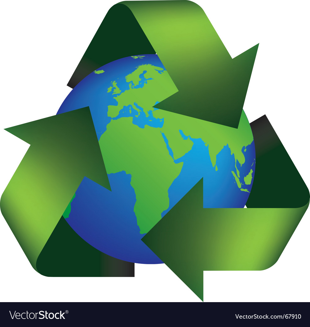Earth recycle vector