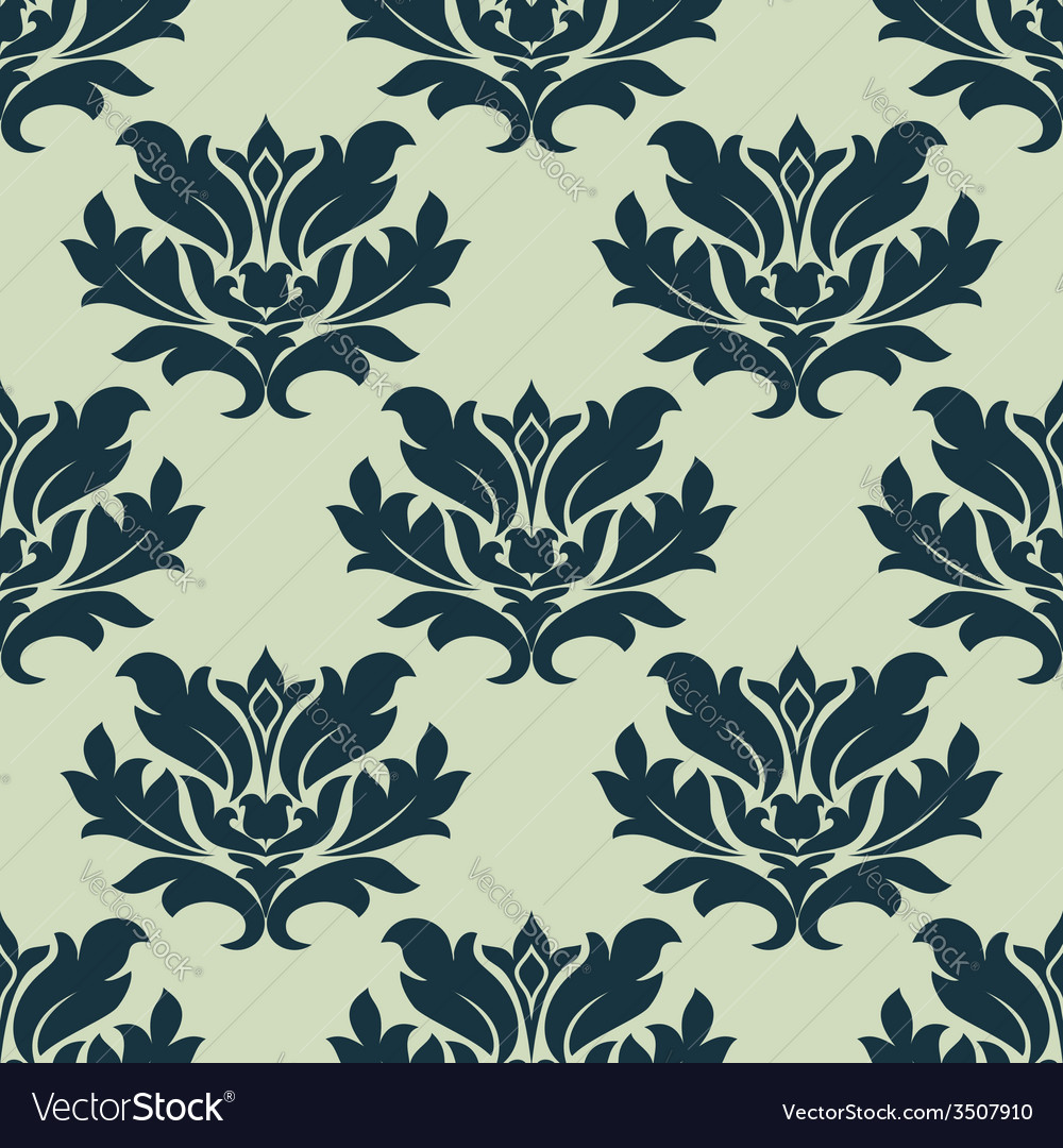 Foliage scroll seamless tracery vector | Price: 1 Credit (USD $1)
