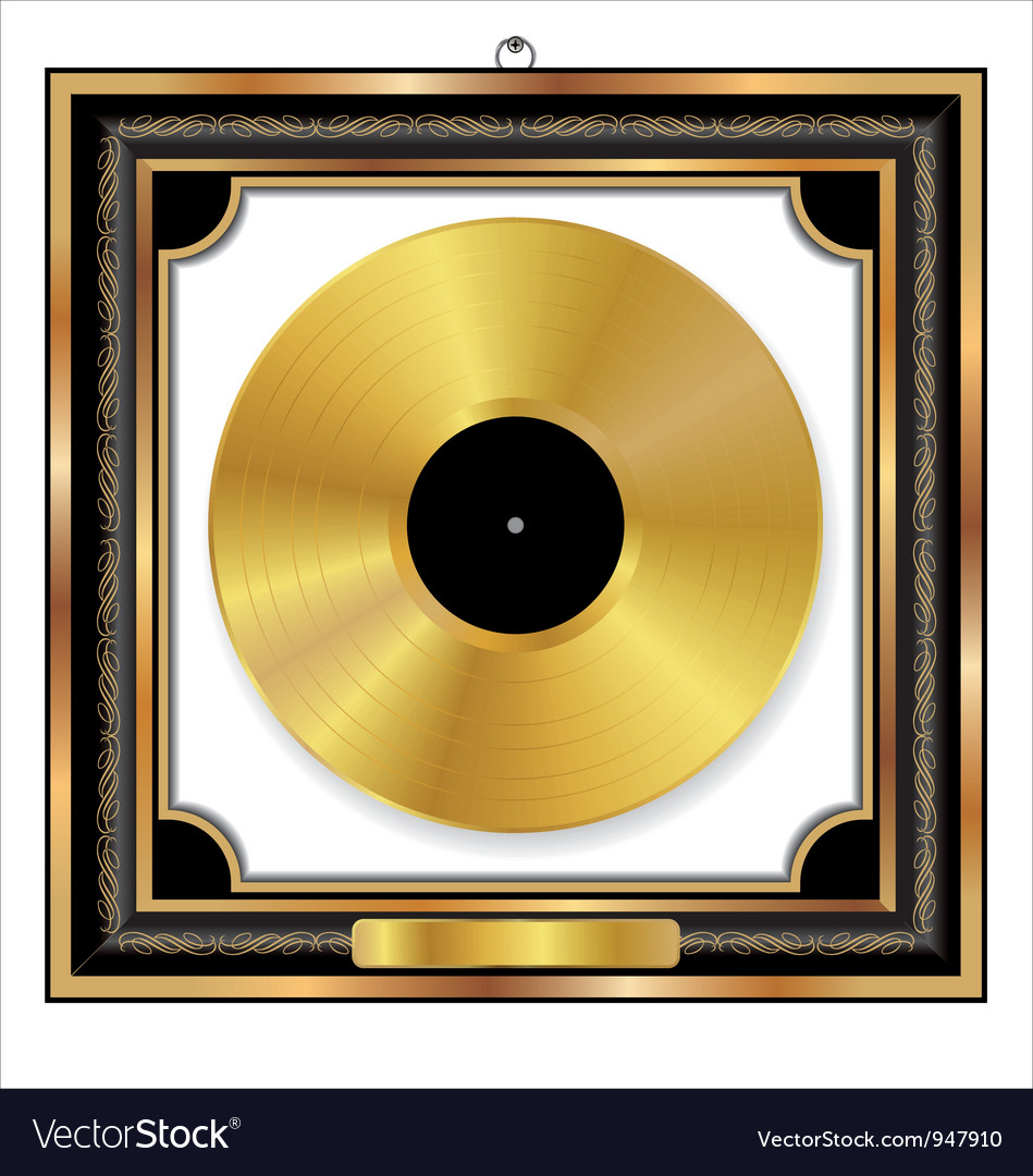 Gold vinyl disc award vector | Price: 1 Credit (USD $1)
