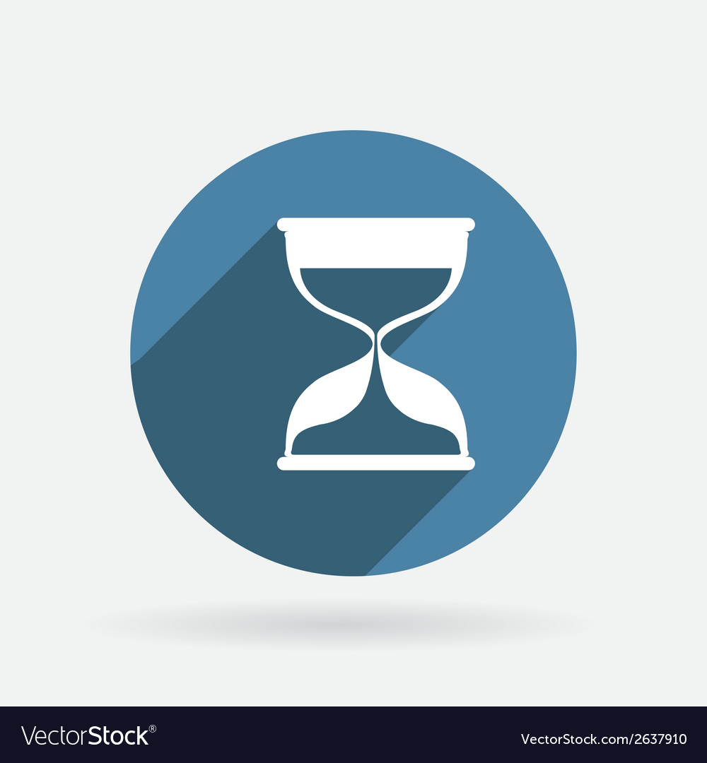 Hourglass waiting circle blue icon with shadow vector | Price: 1 Credit (USD $1)
