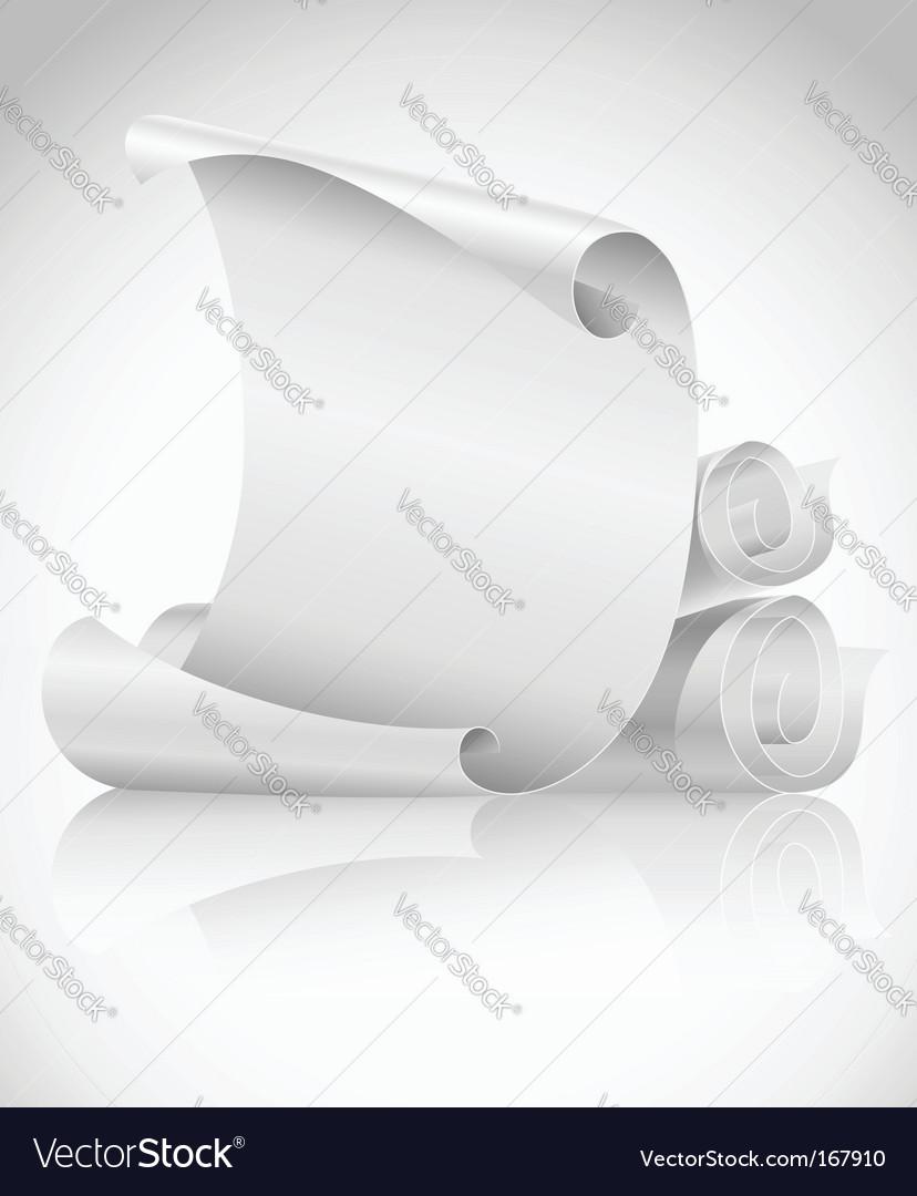 Scrolls paper vector | Price: 1 Credit (USD $1)