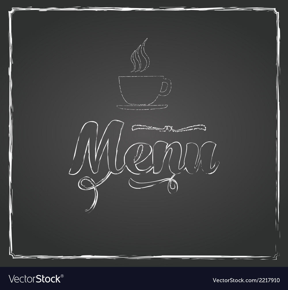 Vintage chalkboard menu design vector | Price: 1 Credit (USD $1)