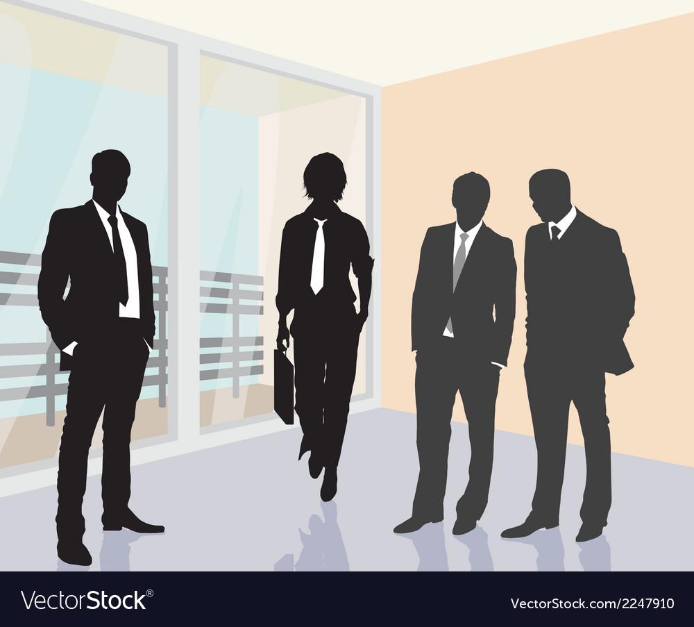 Working meeting vector | Price: 1 Credit (USD $1)