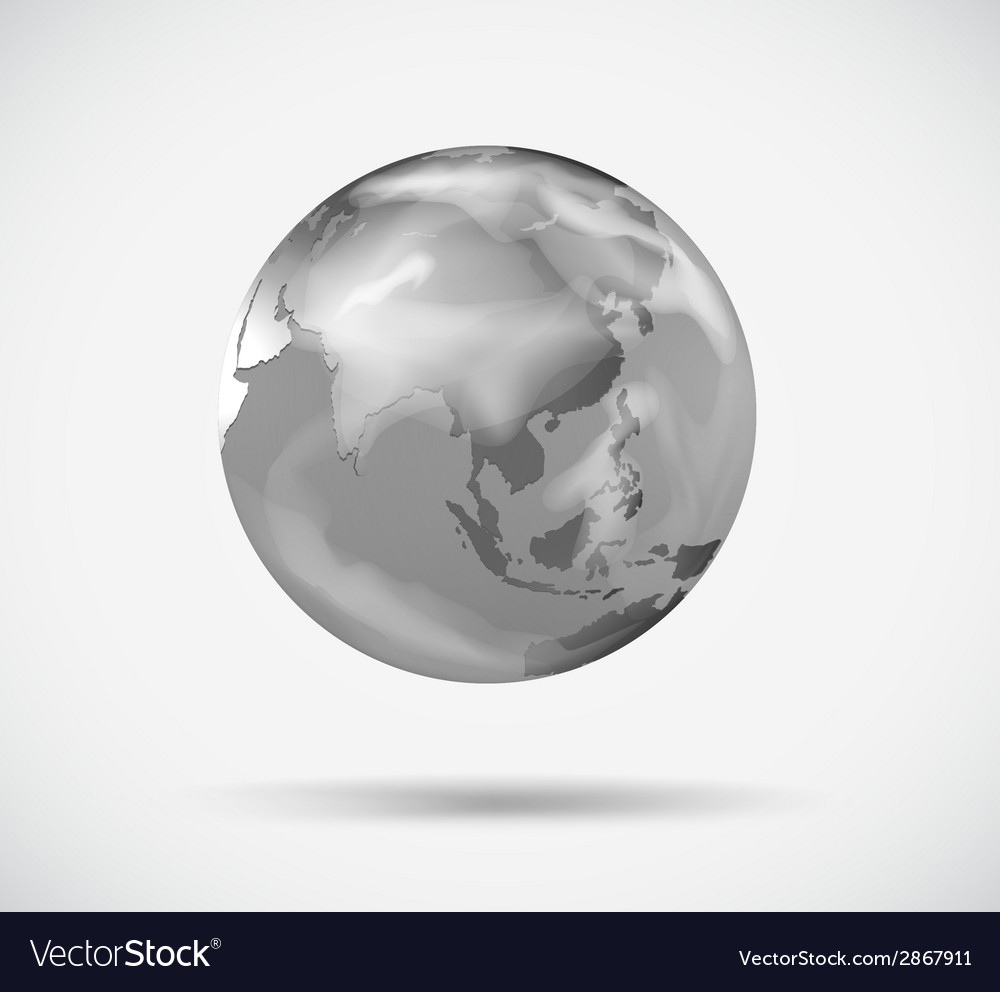 A planet in gray color vector | Price: 1 Credit (USD $1)