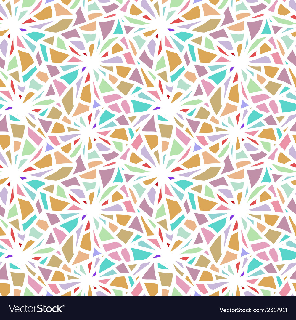 Abstract seamless color mosaic texture vector | Price: 1 Credit (USD $1)