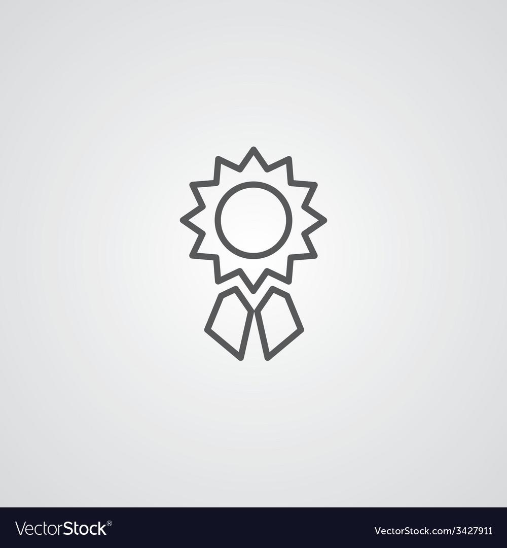 Achievement outline symbol dark on white vector | Price: 1 Credit (USD $1)