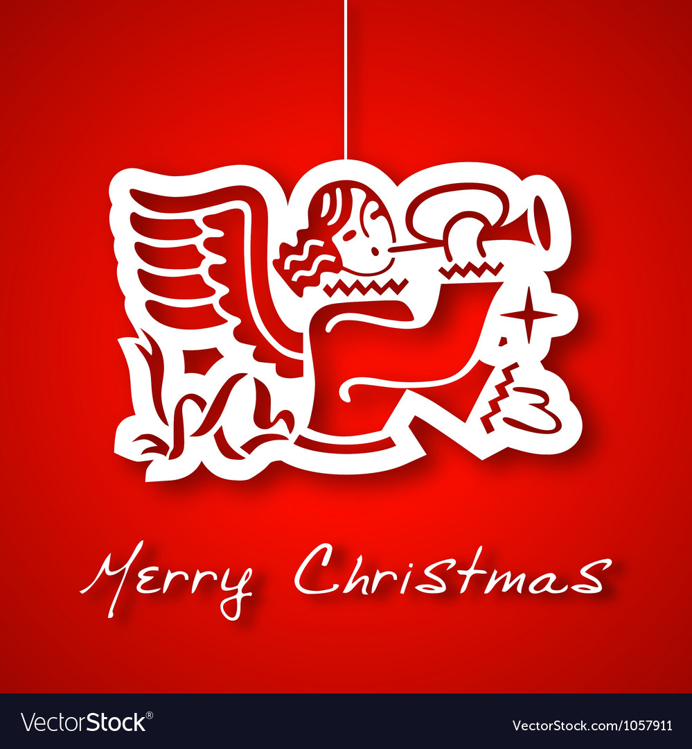 Christmas angel applique background vector | Price: 1 Credit (USD $1)