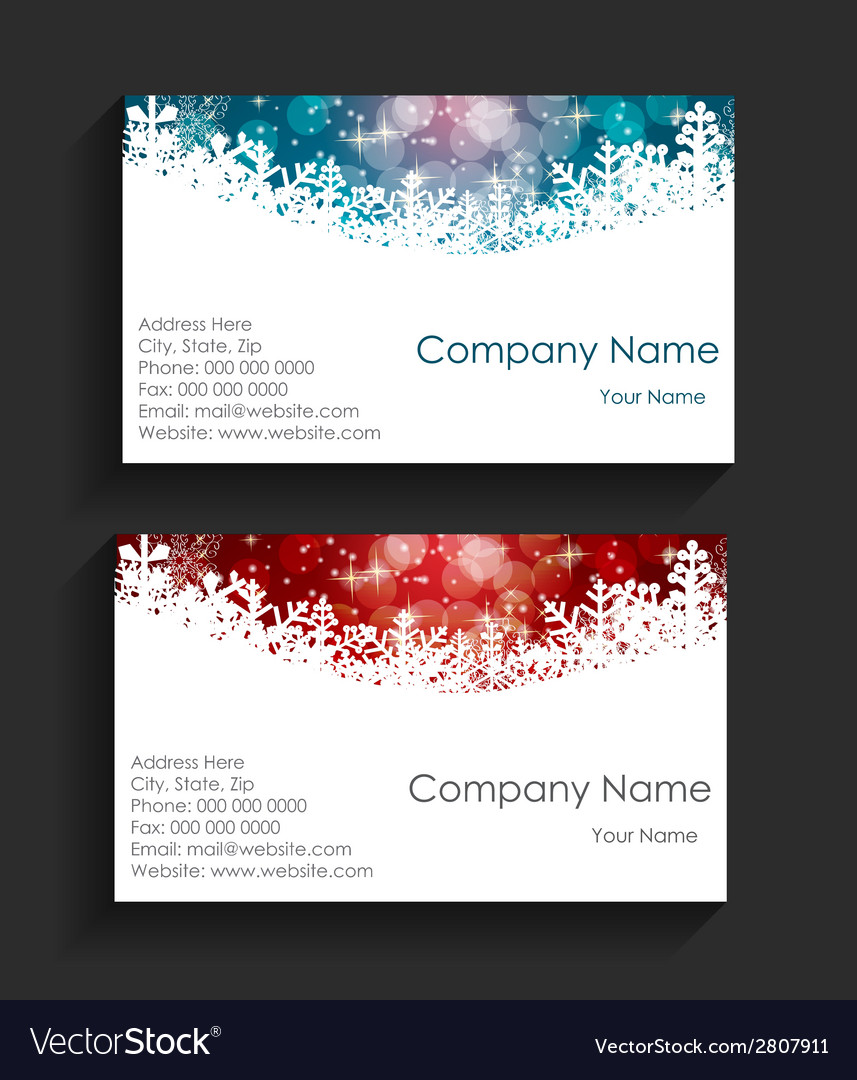 Company christmas business card vector | Price: 1 Credit (USD $1)