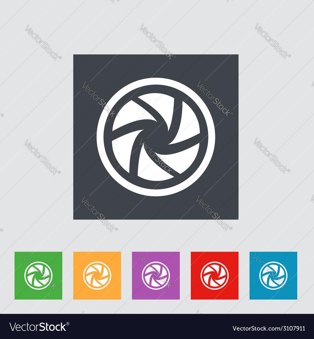 Flat camera shutter icon vector | Price: 1 Credit (USD $1)