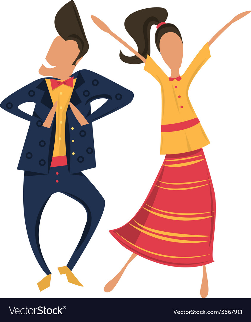 Hipsters dancing in retro clothes vector | Price: 1 Credit (USD $1)