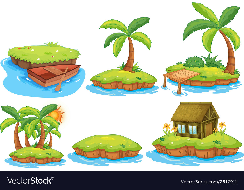 Islands vector | Price: 1 Credit (USD $1)