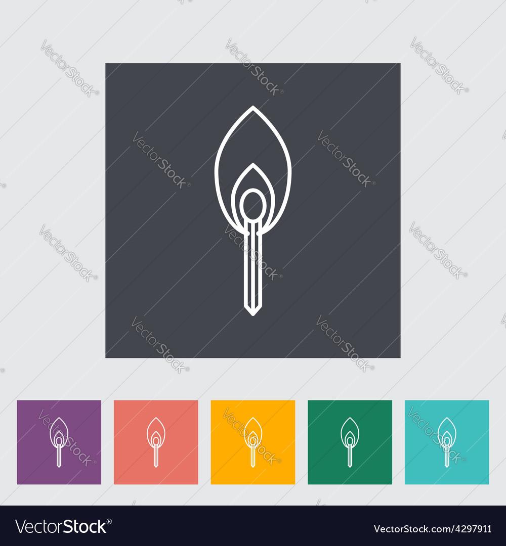Match icon vector | Price: 1 Credit (USD $1)
