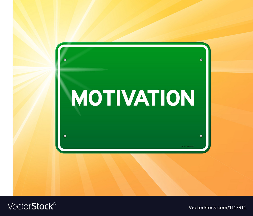 Motivation green sign vector | Price: 1 Credit (USD $1)