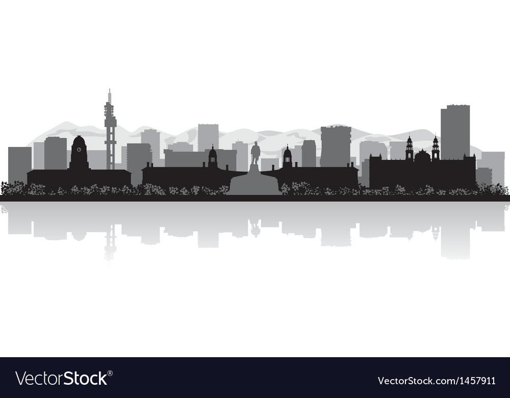 Pretoria city skyline silhouette vector   Price: 1 Credit (USD $1)