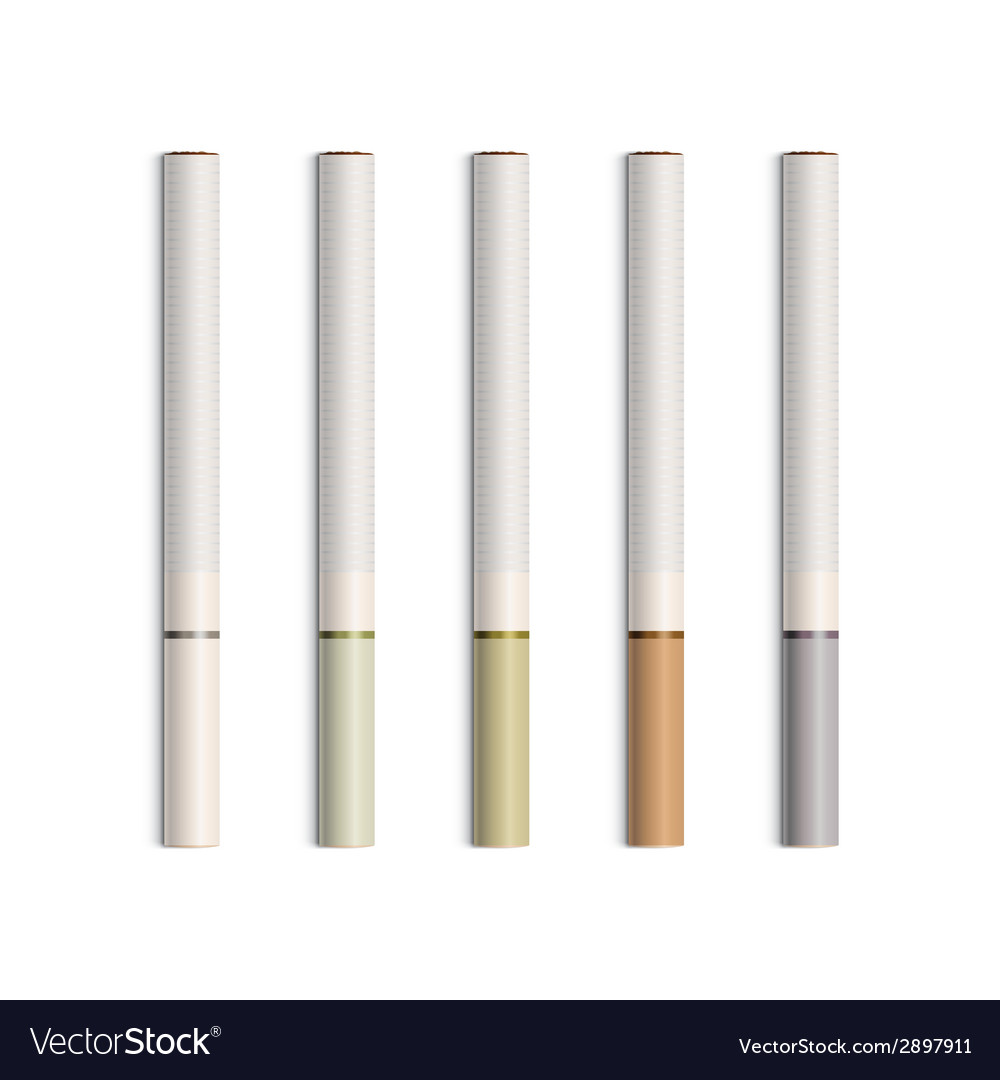 Set of cigarettes with colored filters vector | Price: 1 Credit (USD $1)